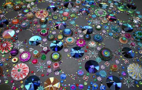Ковры из кристаллов и не только. Потрясное зрелище, от которого не оторвать глаз!