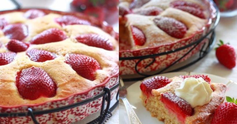 Итальянский пирог с клубникой, который готовится на раз-два. Пользуясь сезоном пеку его почти каждые выходные!