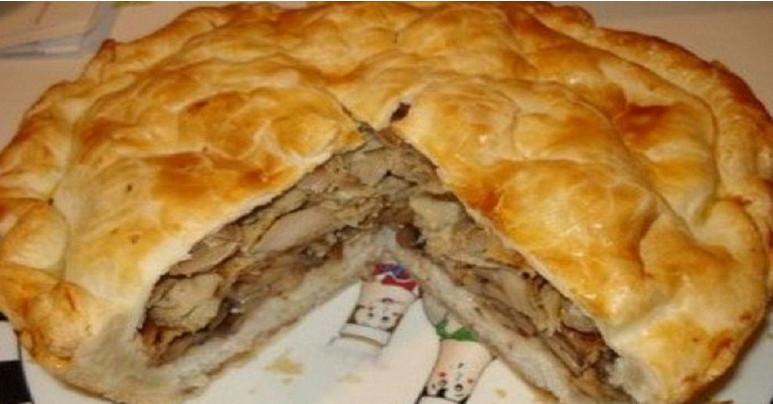 Узбекский курник — царь пирогов! Понадобятся самые простые продукты…