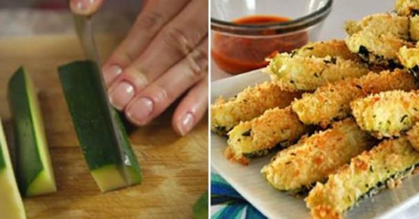Хрустящие и одновременно очень нежные кабачки из духовки: разлетаются как семечки!
