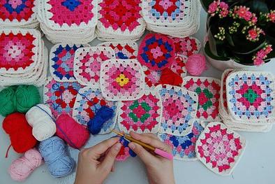 Бабушкин квадрат схемы для вязания пледов