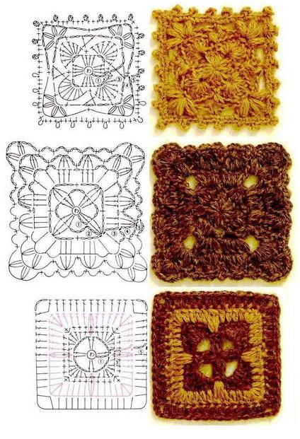 Сказочный бабушкин квадрат! Более 30 схем, описание и идеи...