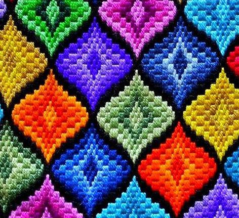 Великолепная вышивка Барджелло или флорентийская. Мастер-класс, идеи и схемы...