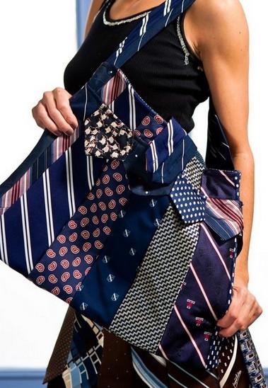 Яркие наряды и сумки из галстуков! Только ни в коем случае не выбрасывайте их...