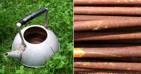 Вот что сделал умелец на даче из старого чайника и труб... Мое восхищение!