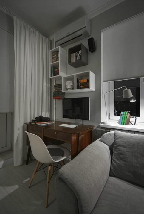 Благодаря умелым дизайнерам старая однушка превратилась в современную студию!