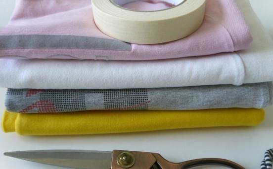 Вяжем очаровательные корзинки из трикотажных футболок!