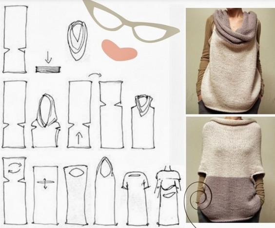 Большая подборка выкроек трансформеров. Жилеты, платье, юбки и шарфы трансформеры и даже комбинезон!