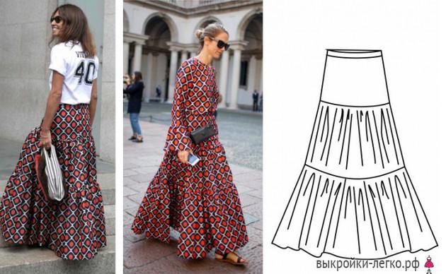 Простые летние юбки: выкройки с описанием. Лето в разгаре! Побалуй себя красивой обновкой!