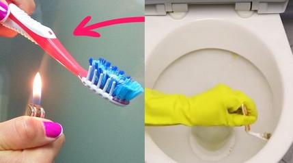 Подожги зубную щетку, чтобы получить нечто очень полезное для дома...