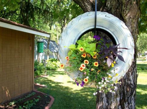 Сосед принес на дачу старые зонты... По прошествии недели его сад было не узнать!