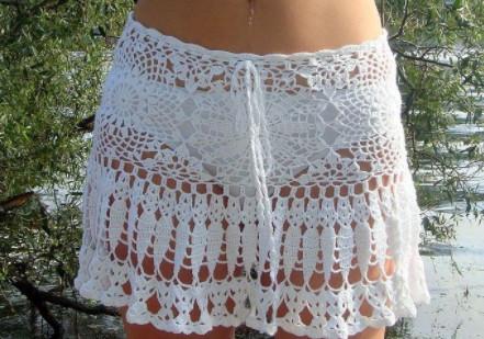 Пляжная юбка крючком...