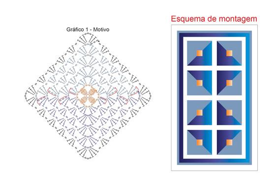 Вязанный пэчворк-коврик: барокко Multicolor