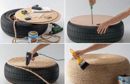 Очень много идей что сделать со старыми шинами... Забирайте на заметку!