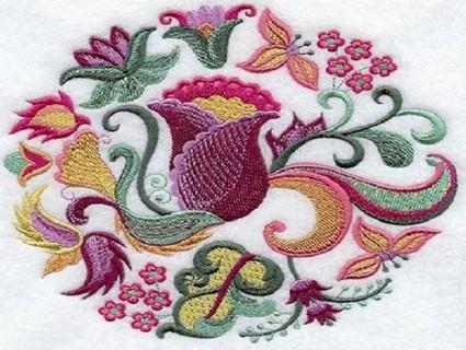 Очаровательная вышивка гладью: виды швов и основные моменты... Китайская живопись гладью просто потрясающая!