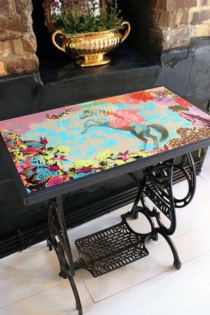12 неординарных идеи использования старинных швейных машинок