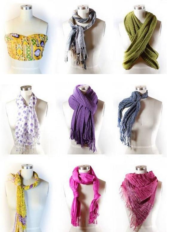 Как правильно носить женский шарф: 54 лучших осенних варианта