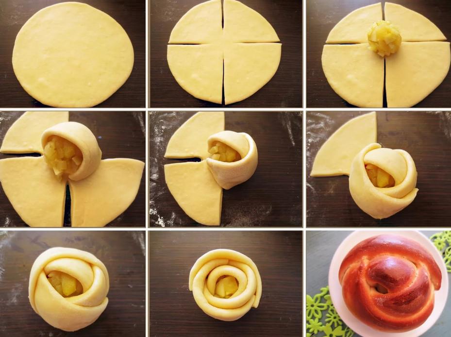 Как сделать булочки с начинкой красивой формы