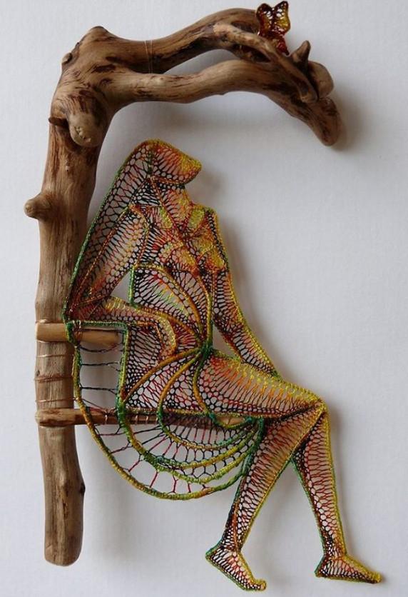 Уникальные картины венгерской мастерицы Агнес Герцег созданные при помощи кружева...