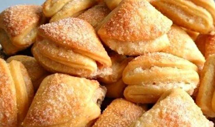 Творожное печенье «Гусиные лапки» обожаю с детства! Рецепт теста без яиц.