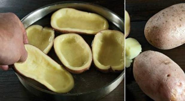 Она разрезала картофель на 2 части, чтобы уже через 30 минут подать к ужину нечто потрясающее!