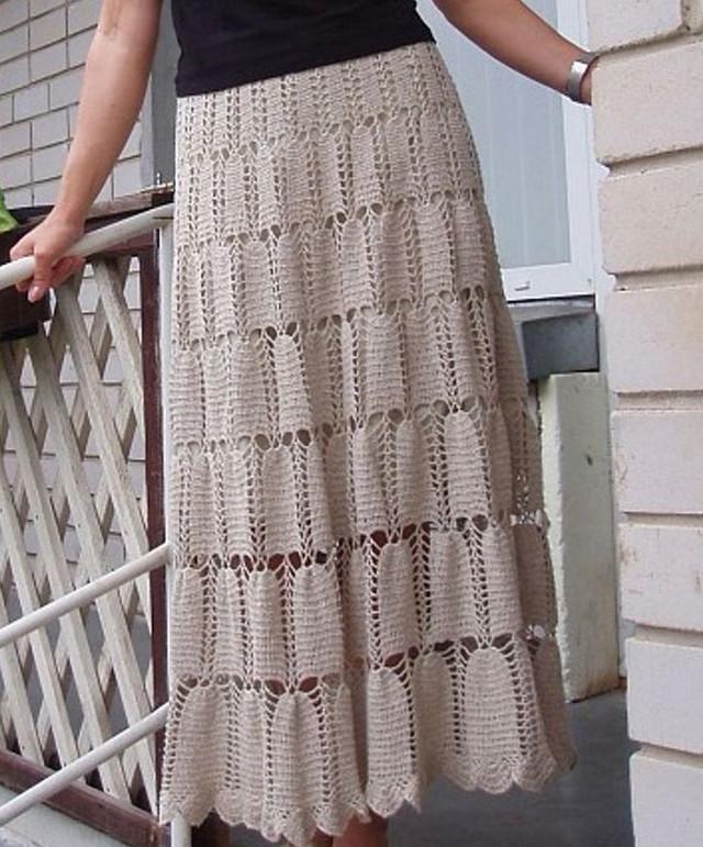 Вязаная юбка — юбка для смелых!