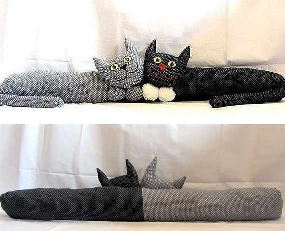 Милые подушки от сквозняков своими руками + Выкройки...