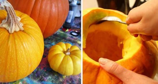 Вот что произойдет, если взять этот осенний овощ и срезать у него верхушку… Но только ровно по кругу!