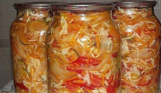 5 вкуснейших рецептов салатиков из капусты на зиму...