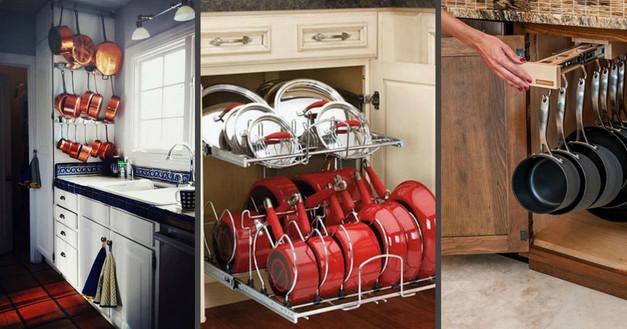 Интересные варианты хранения посуды: 50 фото-идей...