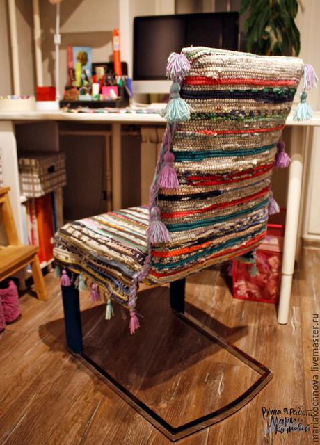 Идея создания оригинального бюджетного чехла для стула...