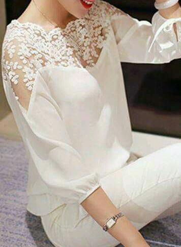 Модные белые блузки. Идеи, советы и мастер класс своими руками