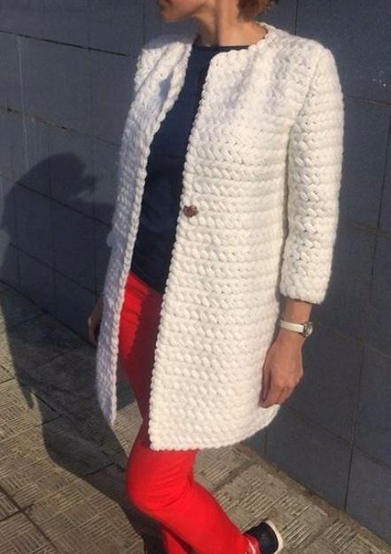 С этим узором я с легкостью вяжу: кардиганы, шапки, хомуты и даже пальто… красиво и тепло!