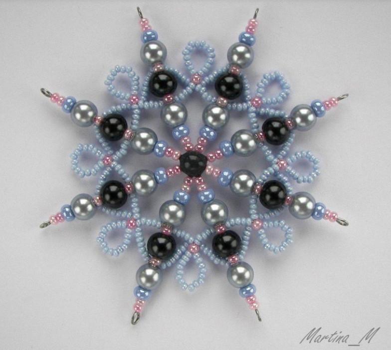 Снежинки из бисера: идеи для вдохновения и схемы...