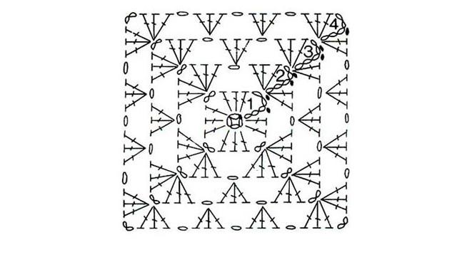 Вязание: жилетка из трех бабушкиных квадратов: мое продвижение...