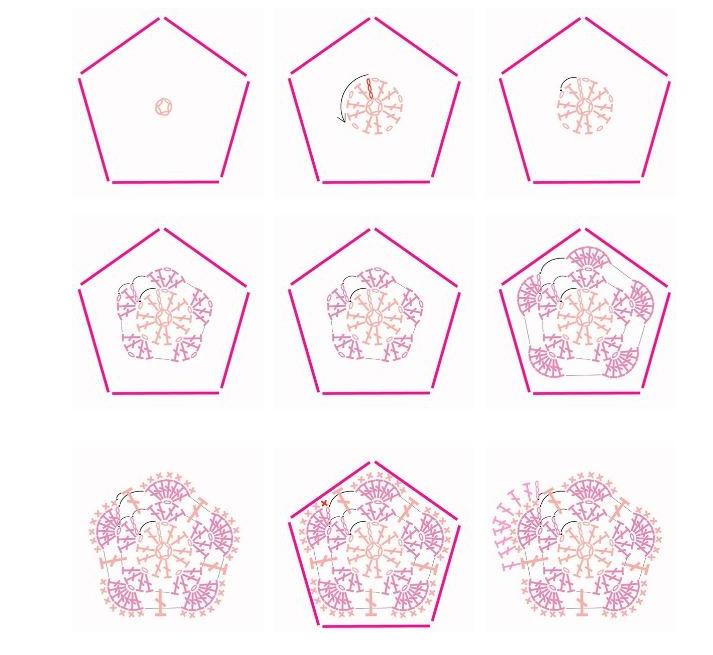 Как вязать квадрат крючком: 10 вариантов со схемами и описанием...