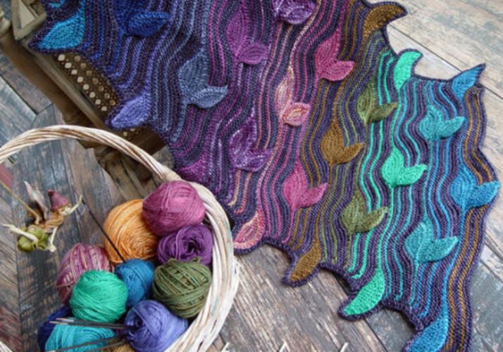 Изумительно красивые шарфы Светланы Гордон, связанные спицами... Впечатляющие работы!