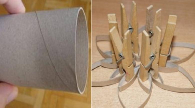 Моя соседка уже два месяца собирает втулки от туалетной бумаги... Действительно удивила!