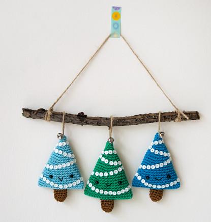 Уникальные новогодние украшения вязанные крючком...