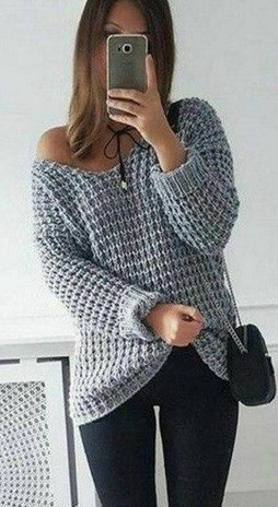 Крупный узор для вязания пуловера спицами...