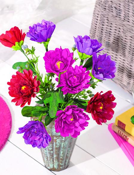 Цветы из бумаги к 8 Марта