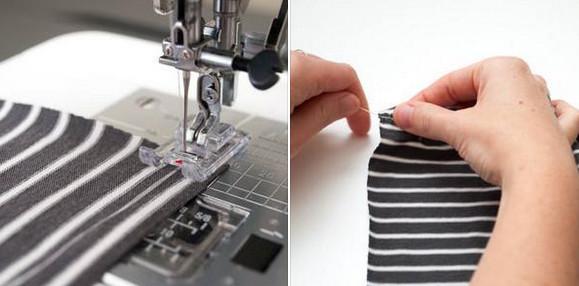 Делаем идеальные сборки на ткани с помощью зубной нити...