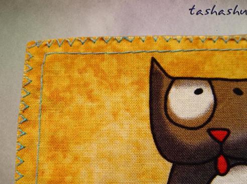 Оригинальный и легкий способ набора петель на ткани для обвязки спицами или крючком...