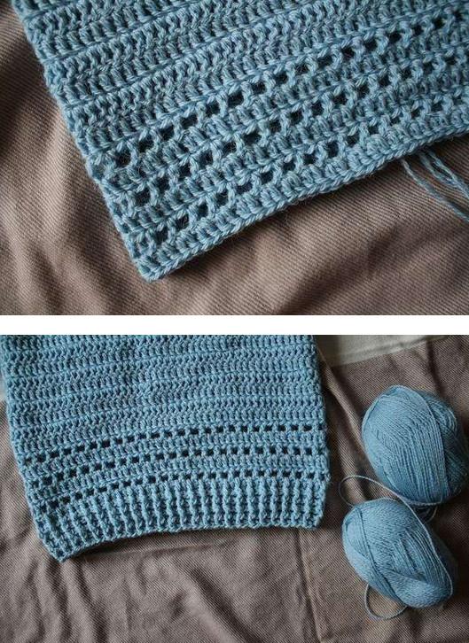 Как легко и быстро связать крючком свитер регланом сверху...