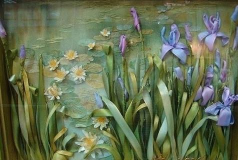 Живые картины от Анжелы Юклянчук: она не вышивает, а рисует лентами, едва касаясь полотна!