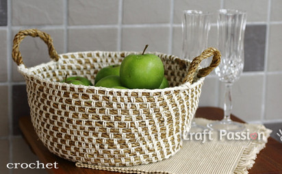 Оригинальный декор для интерьера кухни из веревки и пряжи...