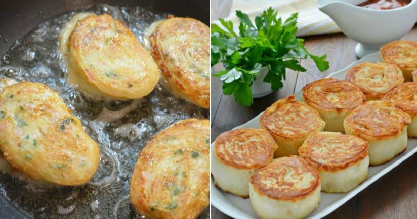 Горячие рулетики из лаваша с картофелем и грибами: закуска, которую расхваливают больше, чем мясо....