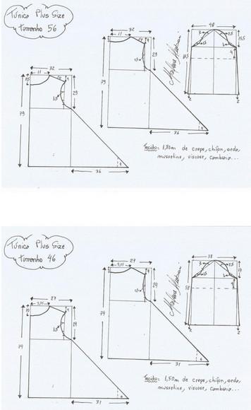 Выкройки туник любого размера — шьем быстро и легко...