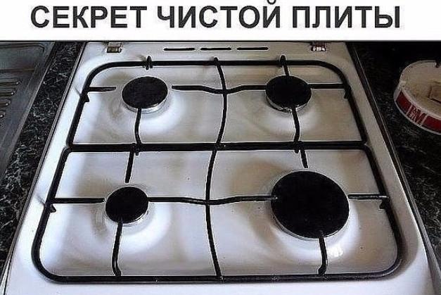 Секрет чистой плиты...