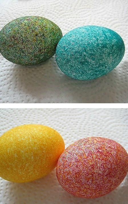 Как покрасить яйца рисом за пару минут. Получилось потрясающе!